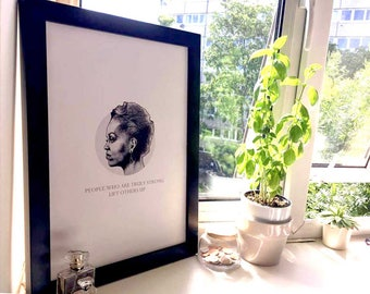 Michelle Obama print - 'People who are truly strong lift others up' - for strong women - inspirational