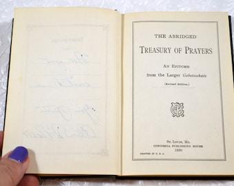 Vintage Abridged Treasury of Prayers 1930 Prayer Book From  Larger Gebetsschatz