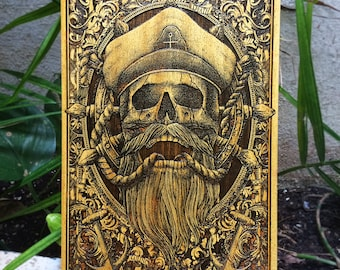 Nautical Print, Pirate Wall Art, Pirate Skull, Pirate Wood Sign, Gift Sailors, Pirate Art Print Poster, Pirates Wall Decor, Pirate Gift