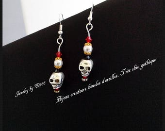 Jewelry designers earrings. Very chic gothic