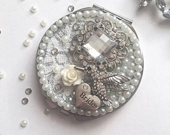 Personalised Compact Mirror, Bridesmaid Gift
