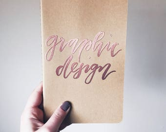 Embossed Moleskin Kraft Journal personalized, customized blank journal