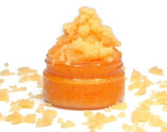 Papaya Sugar Scrub - Choose Size - Exfoliating Body Scrub, Face Scrub, Moisturizing Sugar Scrub.
