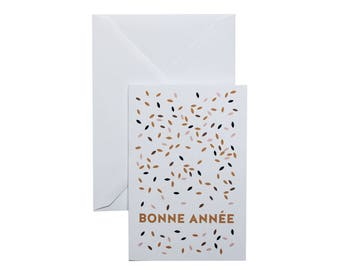 Happy New year Greeting Card - french words