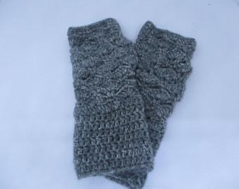 crochet fingerless mittens/gloves