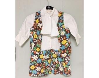 Vtg 1960s Carol Evans Penney's 2 piece dress and vest set
