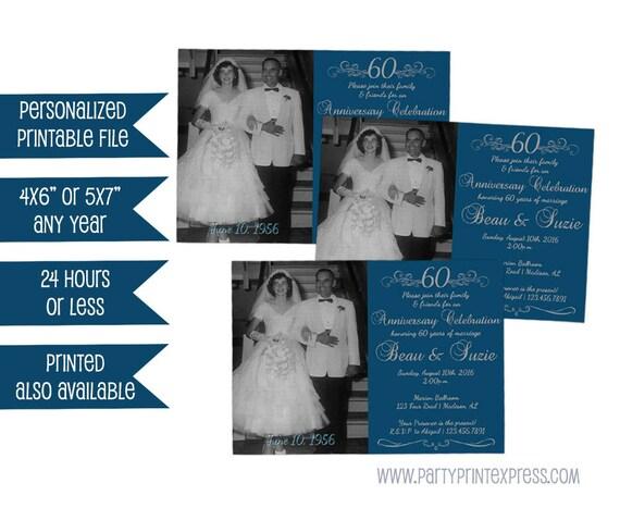 Printable 60th anniversary party invite photo 60th wedding il570xn stopboris Choice Image