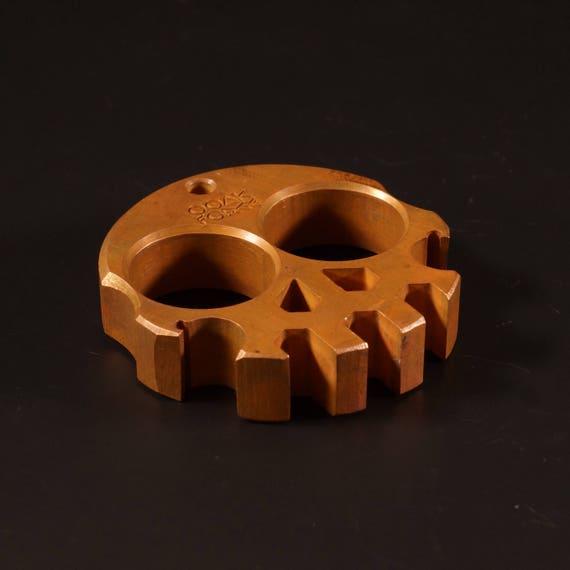 Compact Copper Skully Multi-Tool // bottle opener, handmade, custom, keychain