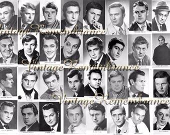 Soviet Film Actors Men Vintage Postcards Cinema Retro Movie Stars USSR Russian Soviet Union Era 1970s Portraits Set of 40 part 2