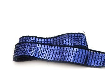 Ribbon glitter 5 rows of square sequins 20 mm
