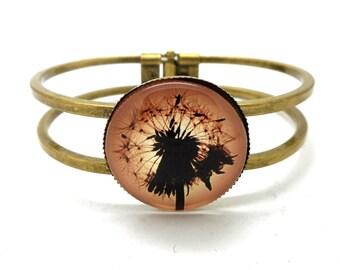 Sunset dandelion bronze Bangle