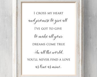 I cross my heart Print. George Strait. And promise to give all I've got to give to make all your dreams come.   All Prints BUY 2 GET 1 FREE