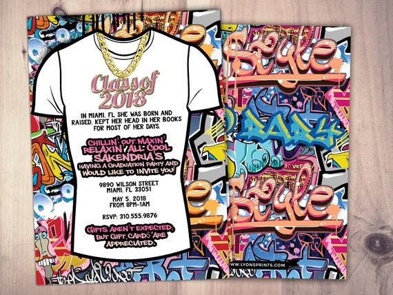 Fresh Prince Graduation Party Hip Hop 90s Partypush It Shower