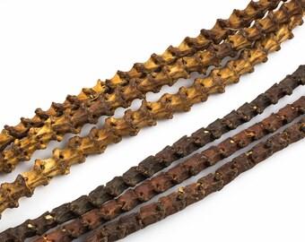 Natural Snake Vertebrae, 9-10mm- 2 colors- 24 inches long