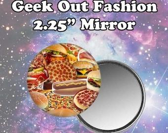 ON VACAY SALE Ships 7/24 Junk Food Pocket Mirror