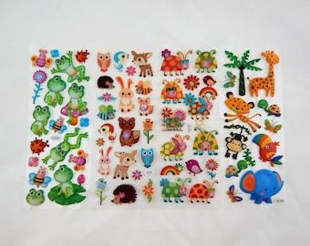 Puffy Stickers//Animal Puffy Stickers//Ladybug Puffy Stickers//Frogs//Woodland Creature Stickers//Card Stickers//Scrapbook Stickers 66