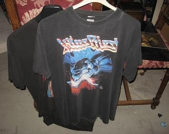 Vintage 1988 JUDAS PRIEST Ram It Down europe Tour double sided T Shirt L Large