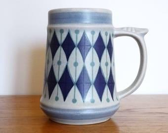 Jasba Ceramic Beer Stein / Large Mug - Model 400 814 - West German Pottery WGP