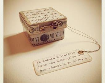 La boîte qui contient tous ces mots qu'on n'a pas réussi à se dire...