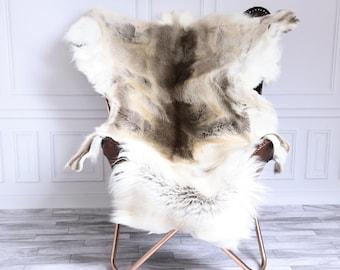 Reindeer Hide | Reindeer Rug | Reindeer Skin | Throw XL Large - Scandinavian Style #15RE28
