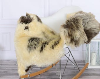Sheepskin Rug | Real Sheepskin Rug | Shaggy Rug | Chair Cover | Sheepskin Throw | Beige Gray Sheepskin | #HERSEPT3
