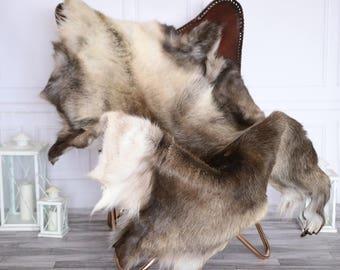 reindeer hide reindeer rug reindeer skin xxxl extra large throw style