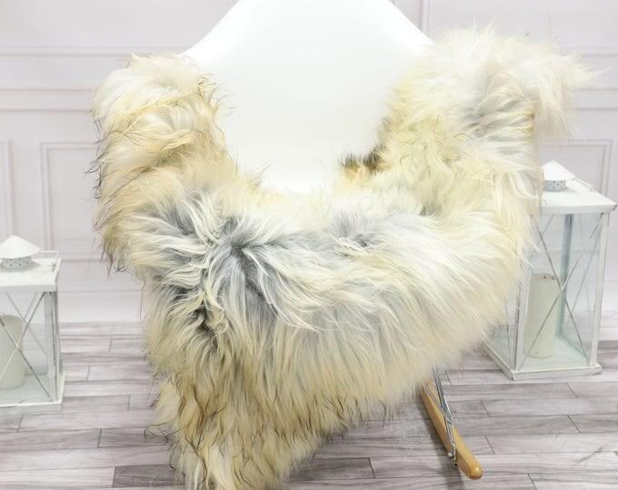 Icelandic Sheepskin | Real Sheepskin Rug | Grey Ivory Sheepskin Rug | Fur Rug | Christmas Decorations #islsept25