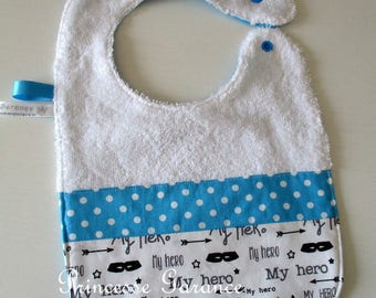 Bib lined in Terry and cotton My Little Hero