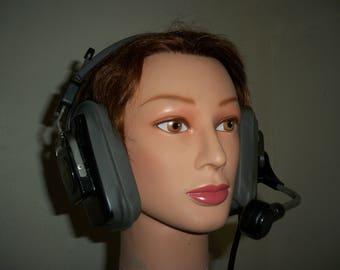 Vintage Aviation Headset Fleetwood T-751-2