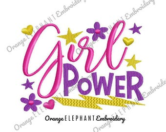 Girl Power Unique Urban Machine Embroidery Design digital File