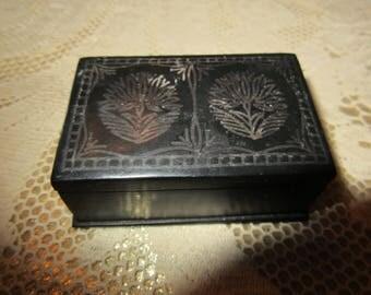 EBONIZED METAL BOX