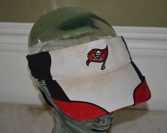 Retro Tampa Bay Bucaneers White Adjustable Visor Baseball Cap Hat (One Size Fits All)