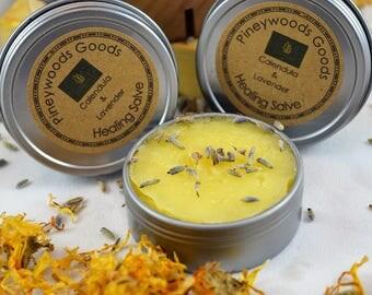 Calendula and Lavender Healing Salve / Calendula Salve / Lavender Salve