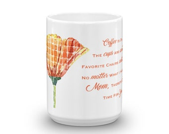 Poppies and Coffee Quote Mug