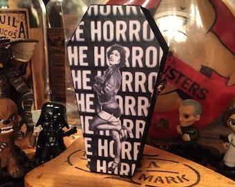 Wood coffin kepsake box, Rocky Horror Picture Show Halloween decor