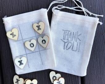 Tic tac toe wedding favors - guest favors - reception favors - thank you favors - thank you bags
