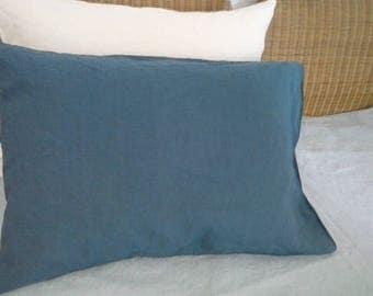Blue Linen pillowcases , Natural linen pillow case, Linen pillow cover, Eco Linen Pillow case