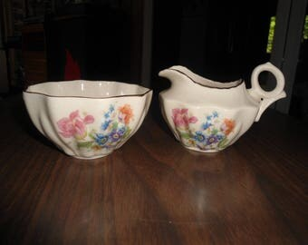 Rochelle, Vintage, Sugar Bowl and Creamer, Retro Kitchen, Cottage Chic, Gift For Her, Art Deco, Vintage Porcelain, Rochelle Fine China