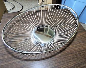 Silver Wire Basket, Italian Silver, Vintage Basket, Vintage Wire Basket, Metal Basket, Uberti, Home Decor, Art Deco, Wedding, Centerpiece