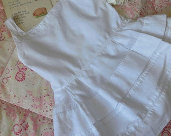 Antique French baby's petticoat or slip, linen