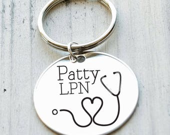 Nurse Love Personalized Key Chain - Engraved