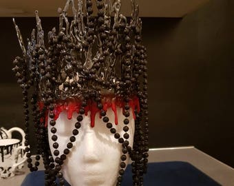 Gothic crown headpiece headdress royalty large ethereal