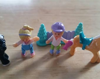 Vintage Polly Pocket Figures Horses and Riders