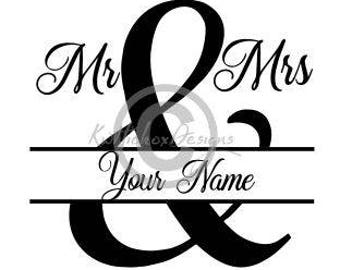 Mr And Mrs Split Svg, Split Monogram Svg, Split Monogram Dxf, Eps File