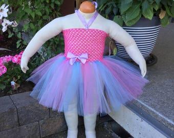 Pink Tutu Dress/Tutu Outfit/Tutu Dress/Tutu Flower Girl Dress/Tutu Birthday Outfit/Princess Dress/Birthday Party/Photoshoot/Fairy Costume