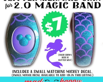 2.0 Magic Band GLITTER Mermaid Scales Vinyl Decal