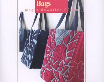 Designer's Hawaiian Bags - Meg's Hawaiian Quilts - Japanese Quilting - PDF ebook - Instant download Digital book - PDF file