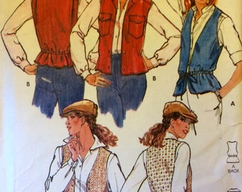 1970s Vintage Women's Vest Sewing Patterns