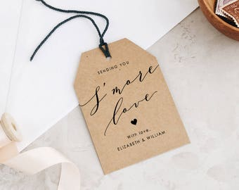 Smore Love Tags Template • Smore Tags • Smore Love •  Thank You Tags • Favor Tags • Word or Pages • MAC or PC