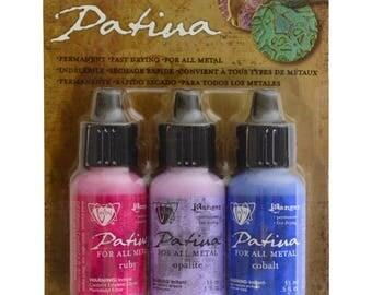 Vintaj® Ranger Patina™ Inks Antique Window Ruby Opaline & Cobalt Ink Jewelry Making Kit - V-34780